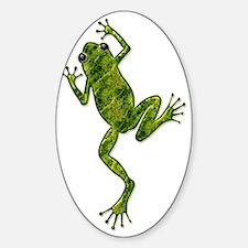 Green Climbing Tree Frog Decal