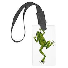 Green Climbing Tree Frog Luggage Tag