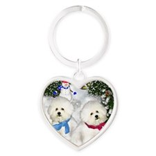 BFvilagesn copy Heart Keychain