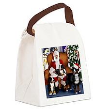 santa clousbernese copy Canvas Lunch Bag
