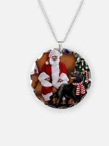 santa clous flatcoat Necklace