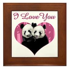 panda black Framed Tile