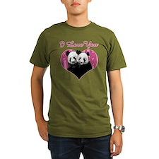 panda black T-Shirt