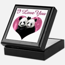 panda black Keepsake Box