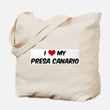 I Love: Presa Canario Tote Bag