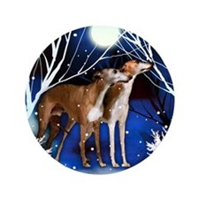 "American Whippet  snown copy 3.5"" Button"