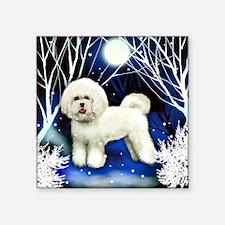 "bichon frise snown copy Square Sticker 3"" x 3"""
