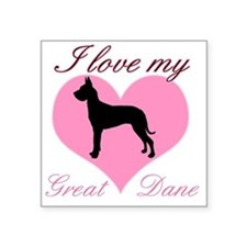 "great danebl Square Sticker 3"" x 3"""