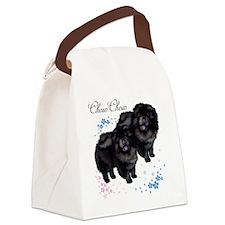 chowsflt copy Canvas Lunch Bag