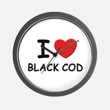 I love black cod Wall Clock