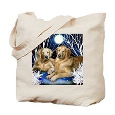 goldenretrievers snown copy Tote Bag