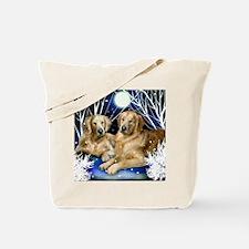 goldenretrievers snown copy Tote Bag