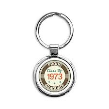 Vintage Class of 1973 Round Keychain
