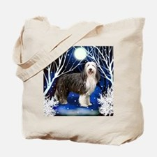 beardedcollie snown copy Tote Bag