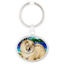 chowcream 5 copy Oval Keychain
