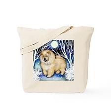 chow cream snown copy Tote Bag
