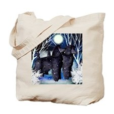 poodlesnown copy Tote Bag