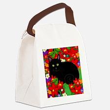 catblgarden copy Canvas Lunch Bag