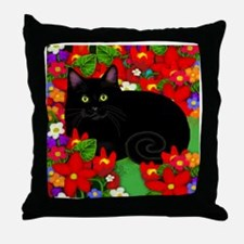 catblgarden copy Throw Pillow