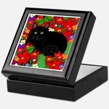 catblgarden copy Keepsake Box