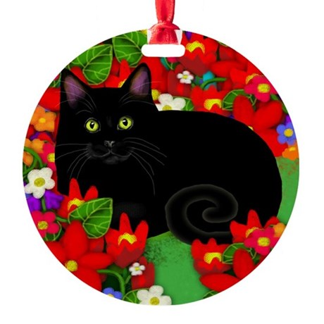catblgarden copy Round Ornament
