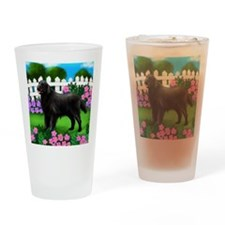 flatcoatedflowers copy Drinking Glass