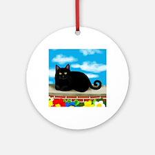 catcloudslsw copy Round Ornament