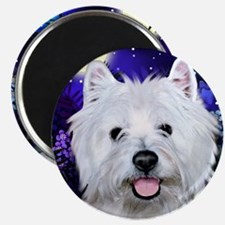 westie moon copy Magnet