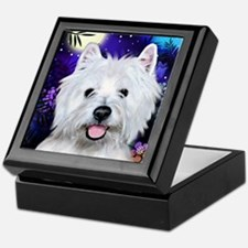 westie moon copy Keepsake Box