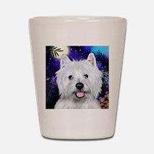 westie moon copy Shot Glass