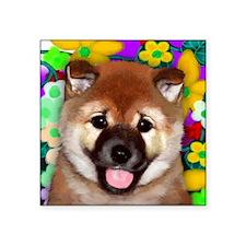 "shiba inu pup copy Square Sticker 3"" x 3"""