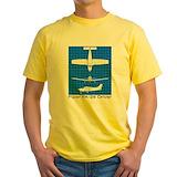 Cherokee 180 Mens Yellow T-shirts