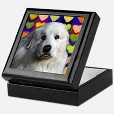 Great Pyrenees love copy Keepsake Box