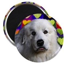 Great Pyrenees love copy Magnet