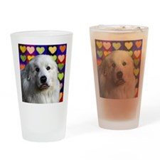Great Pyrenees love copy Drinking Glass