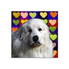 """Great Pyrenees love copy Square Sticker 3"""" x 3"""""""