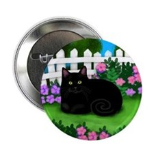 "bl cat garden fence copy 2.25"" Button"
