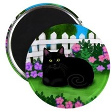 bl cat garden fence copy Magnet