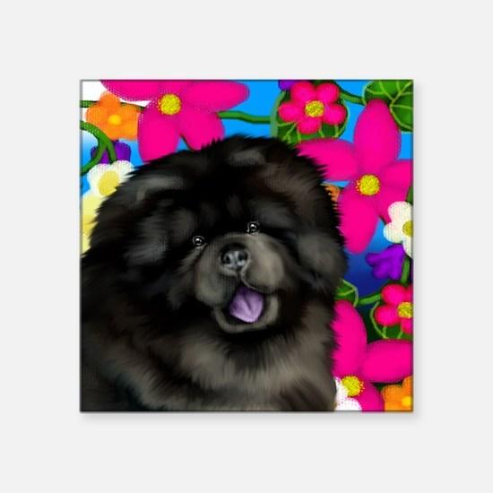 "blchow flowers copy Square Sticker 3"" x 3"""