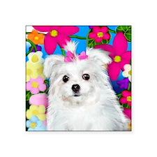"""maltese puppy copy Square Sticker 3"""" x 3"""""""