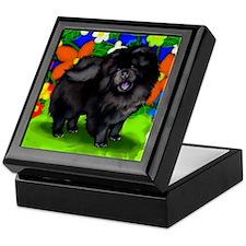 chows bl dogs copy FL Keepsake Box