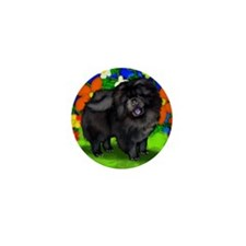 chows bl dogs copy FL Mini Button