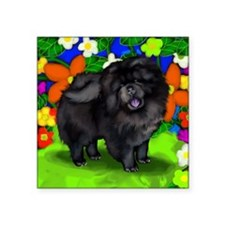 "chows bl dogs copy FL Square Sticker 3"" x 3"""