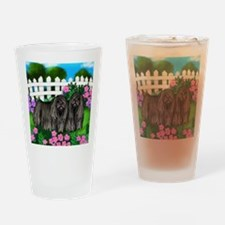 puliblackdogsgarden copy Drinking Glass