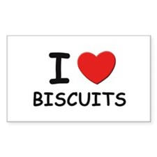 I love biscuits Rectangle Decal