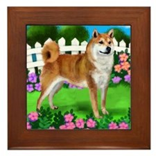 SHIBA INU GARDEN Framed Tile