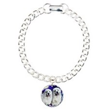 Great Pyrenees moon gard Charm Bracelet, One Charm
