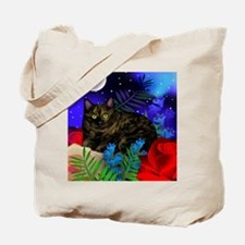 tortoiseshell cat moon 2 copy Tote Bag