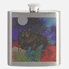 tortoiseshell cat moon 2 copy Flask