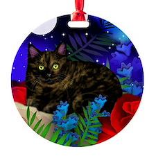 tortoiseshell cat moon 2 copy Ornament
